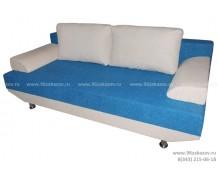 Диван ЕК-1 Астра бело-голубая
