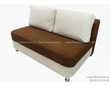 Диван-канапе ЕК-5 Астра коричнево-белая (140см)