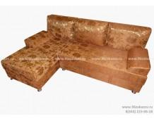Диван угловой ЕКУ-1 гобелен коричнево-рыжий