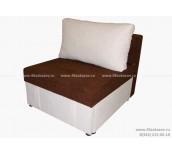 Кресло кровать ЕК-7 Астра коричнево-белая